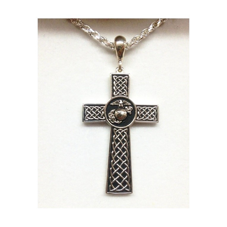 Sterling Silver Marine Corps Cross